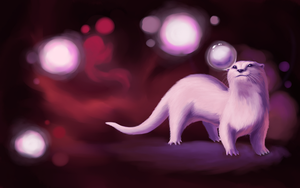 The White Otter by Seiga
