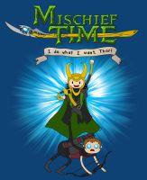 Mischief Time with Loki and Hawkeye by wolfmier