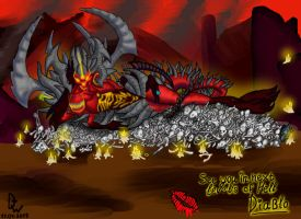 See you in next levels of HELL Diablo (color) by Dirty-Wolf