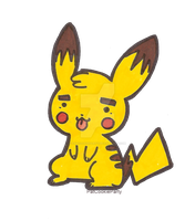Random pikachu by PatCookieParty