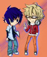 bakuman chibis color by FlabberGhaster