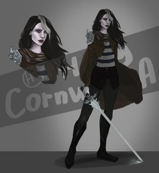 Adopt Auction. Woman Warrior with sword [CLOSE] by holy-cornucopia