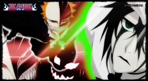 hollow ichigo and 4th espada by amit55