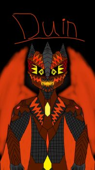 Duin, Primordial God of Madness  by Firestormthedragolf