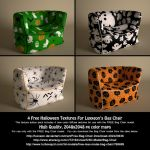Halloween Texture Add-on (For Luxxeon's Bag Chair) by LuxXeon