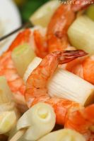 Prawn and leek kebabs by patchow