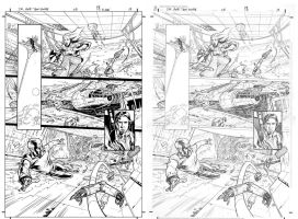 Star Wars AOTE #5 p15 with pencils by JulienHB