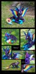 ''Darcy'' - Dog Dragon Plushie by Lithe-Fider