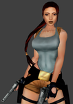 TR2 In-game Low Poly Lara Remake (WIP) by FearEffectInferno