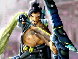 Hanzo - Overwatch by Eremas-su