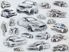 Car Sketches by LoccoRico