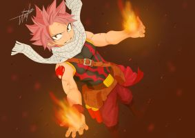 Natsu (Collab) by TheChickenLad
