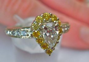 Canary and White Diamond Engagement Ring (Angle 3) by SeattleFineJewels