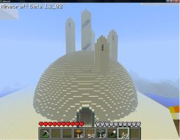 Minecraft Sand castle by wulfsige107