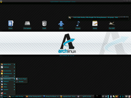 Arch Linux Desk by pjchater
