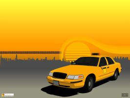 NYC Taxi by atobgraphics