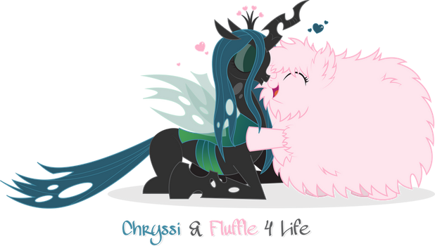 Chryssi and Fluffle 4 Life by rat-patooty