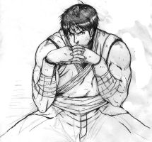 Street fighter 4 guy sketch by jasonniceboy
