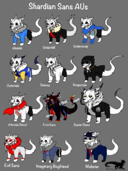 Undertale AU: Shardiantale-All of the Snas! by BlackDragon-Studios