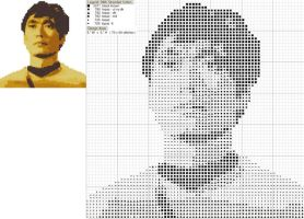 Sulu Cross Stitch Pattern by black-lupin