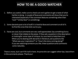 How To Be A Good Watcher!! by Everlasting90