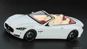 Maserati Grancabrio - front/top view by GhilasHardgeek