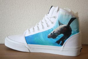 Custom painted Orca shoes-inside right shoe by methodmonkey