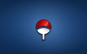 Wallpaper - Uchiha 'Fan' (Blue Theme) Logo by Kalangozilla