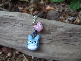 Blue totoro charm necklace by yael360