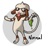 Pokeddex Day 1 - Smeargle by Kame-Ghost
