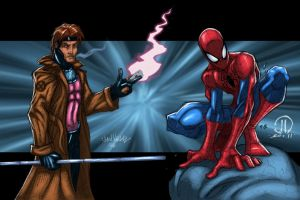 Spiderman Gambit Commission - Colors by MetaWorks