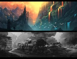 Speed Paint Landscapes by DigitalCutti