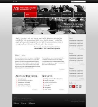 ACII Website by dFEVER