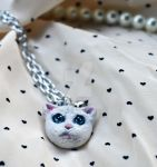 Cat Necklace by songinthesnow