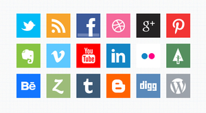 Minimal Social Media Icons (PSD) by softarea