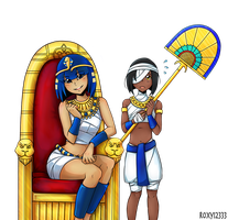 Ankha and Lucky WIP 4 by Roxy12333