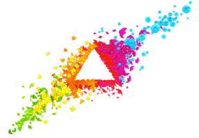 Origami Triangle Art Stock Png by Primadonnagirly