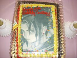 My Sasuke Birthday Cake by DarkAngel9050