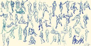 Gesture Studies 1 by dodgyrommer