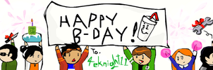 Happy Birthday 4eknight11 by Reinrassic-the-5th
