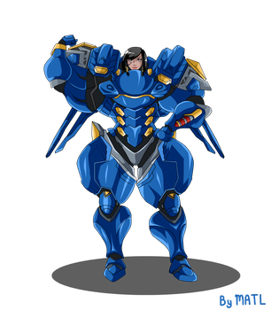 Commission - Pharah 1/2 by MATL