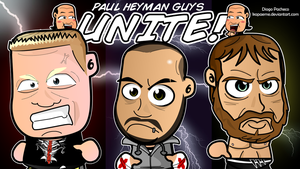 Paul Heyman Guys - WWE Chibi Wallpaper by kapaeme