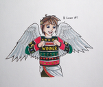 Pit's New Ugly Nintendo Christmas Sweater by CrimzonLogic