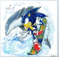 Sonic and Ecco - Wave Ocean by Liris-san