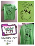 Invader Zim T-Shirt by hoity-toity-holiday