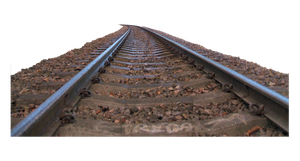 cut out train tracks by SolStock