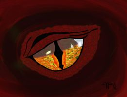 Eye of Smaug by paint-and-pen-key