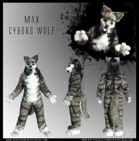 Fursuit Commish - Cyborg Wolf by Vixen8387