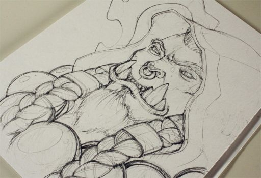 Thrall sketch by Baalto