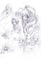 Chrono trigger sketch dump by Alice-Heartless
